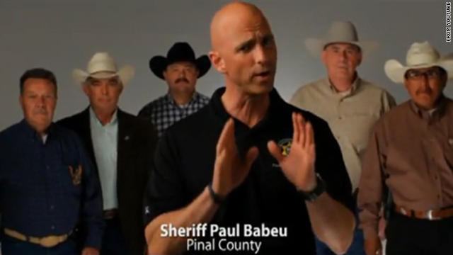 Six real-life sheriffs from Arizona appeared in a highly effective campaign ad for Sen. John McCain's primary run.