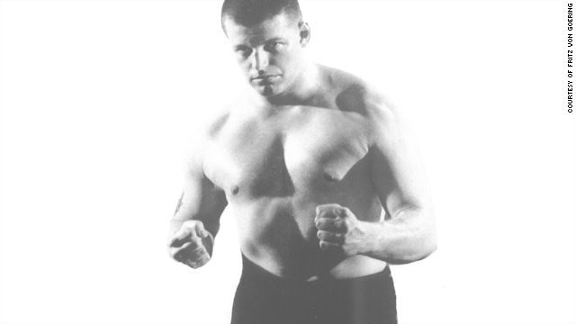 Wrestler Fritz von Goering made a good living in the 1950s as a villain in the ring.