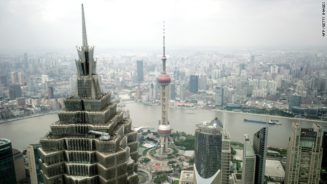 A view of Shanghai's financial district. China is booming at the expense of the U.S., David Frum says.