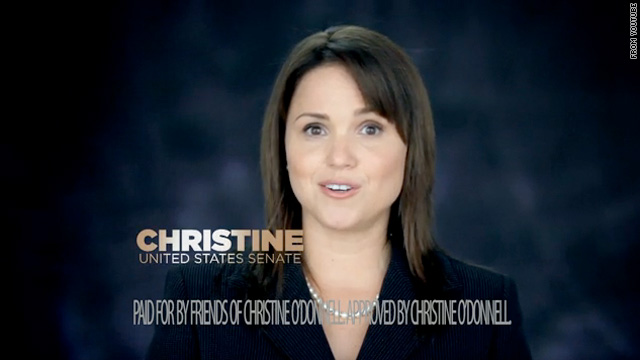 Republican Christine O'Donnell, running for the U.S. Senate in Delaware, has stressed populist themes in her ads.