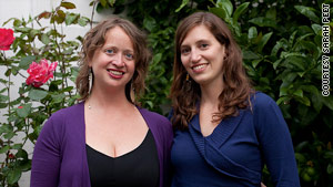 Brianna Cayo Cotter, left, and Orli Cotel founded Swap for Good.