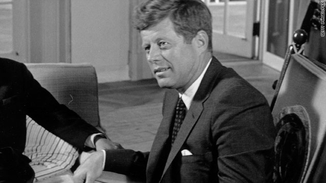 Next month will be the 50th anniversary of the election of President Kennedy, here at a White House meeting in September 1963.