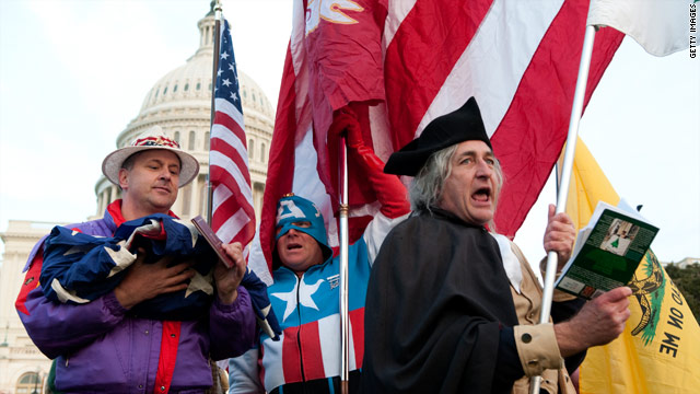 Tea Party activists rally on the west lawn of the U.S. Capitol in Washington on Election Day.