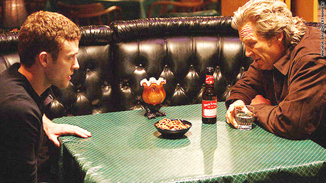 "Jeff Bridges and Justin Timberlake play a father and his son in the 2009 film, ""The Open Road."""