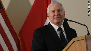Secretary of Defense Robert Gates has told the president he'll stay on for at least one more year, the Pentagon says.