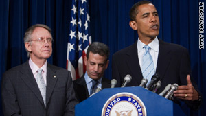 Sen. Harry Reid appeared in 2007 with President Obama, then an Illinois senator, for a press conference on ethics reform.