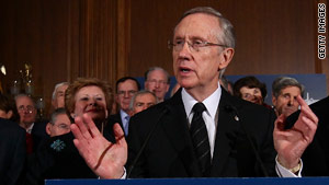 Senate Majority Leader Harry Reid says prominent African-American officials have called him to offer support.