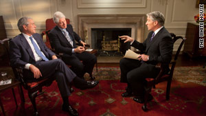 Former presidents Bill Clinton and George W. Bush discuss Haiti with CNN's John King.
