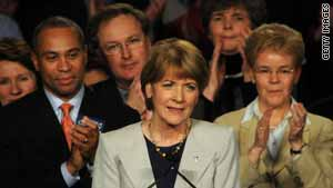 Democratic candidate Martha Coakley gives her concession speech Tuesday night.