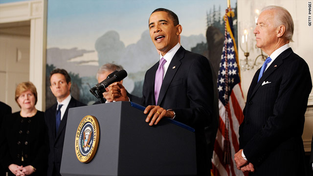 President Obama delivers remarks on financial reform Thursday.