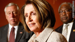 Nancy Pelosi says Democrats won't be able to easily pass the health care bill by having the House OK the Senate version.