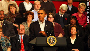 """There will be more fights in the days ahead,"" President Obama said Friday in Elyria, Ohio."