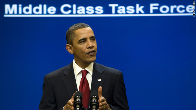 President Obama speaks to the Middle ClassTask Force on January 25.