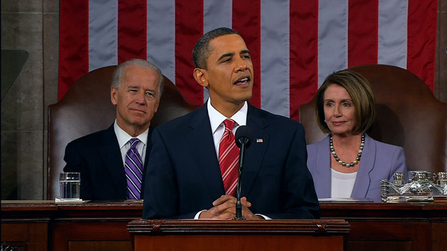 Responses to President Obama's State of the Union address fell largely along partisan lines.