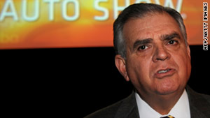 Transportation Secretary Ray LaHood said the U.S. government had to apply a lot of pressure on Toyota.