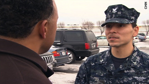 "Navy Petty Officer Alan Jim said gay and lesbian service members are treated ""the same as everybody else."""