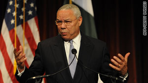Colin Powell says he supports a new policy presented by the secretary of defense and the current Joint Chiefs chairman.