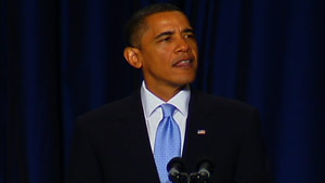 President Obama speaks to the National Prayer Breakfast on Thursday.