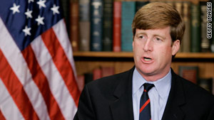 Rep. Patrick Kennedy announced Thursday night that he will not seek re-election.