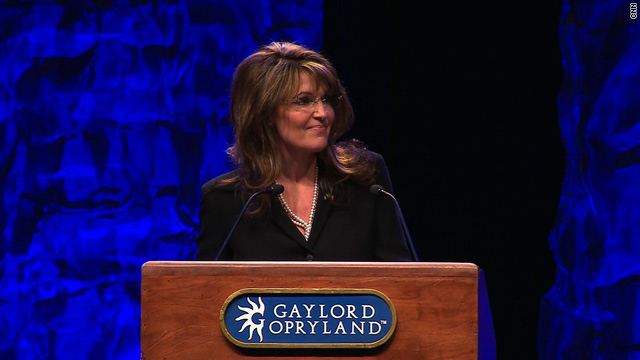 Former Republican vice-presidential candidate Sarah Palin addresses the first national meet for the Tea Party movement.