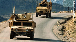 U.S. soldiers are on patrol this week near Tubak, Afghanistan.