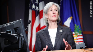 Secretary of Health and Human Services Kathleen Sebelius speaks about health care reform in late January.