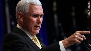 "Rep. Mike Pence of Indiana says he embraces the ""Party of No"" label that Democrats have tried to pin on the GOP."