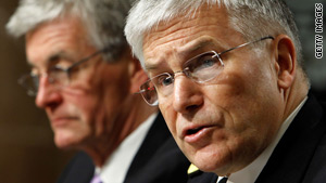 Army Secretary John McHugh, left, and Army Chief of Staff Gen. George Casey testify Tuesday in Washington.