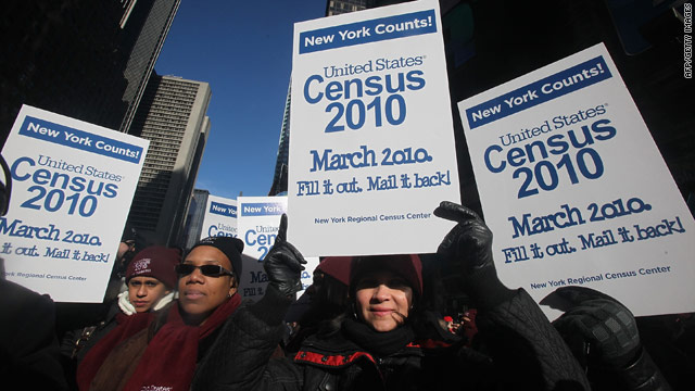 Census employees encourage particiaption in the 2010 census.