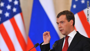 """Russian President Dimitri Medvedev is """"very serious"""" about arms control talks, says a U.S. official close to the talks."""