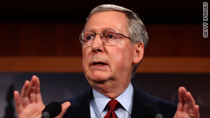 Sen. Mitch McConnell says the measure would spend more than Democrats' health care overhaul would save.