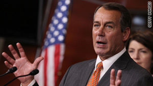 Rep. John Boehner says the House GOP will meet Thursday to discuss banning all earmarks.
