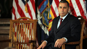 New York Gov. David Paterson, here at a town hall meeting this week in Brooklyn, has been embroiled in ethics scandals.