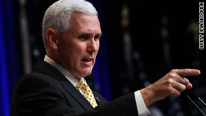 """Federal spending is out of control, and the American people know it,"" Rep. Mike Pence says."