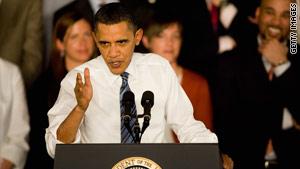 President Obama speaks on health care reform Thursday in St. Charles, Missouri.