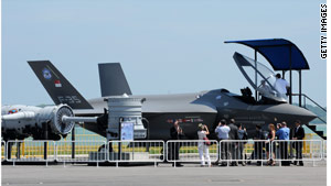 The cost of the F-35 aircraft has gone from $50 million a jet in 2001 to about $113 million.