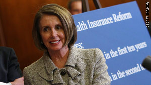 House Speaker Nancy Pelosi highlights the health care reform plan at the Capitol on Thursday.