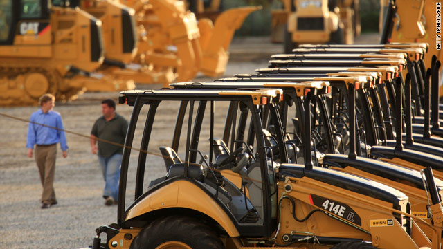 Times are tough at Caterpillar, where revenue declined 37 percent in 2009.