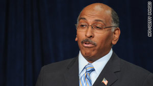 Republican National Committee Chairman Michael Steele has faced heavy internal criticism from the GOP.
