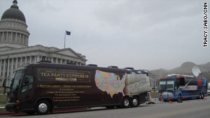 CNN has been covering the Tea Party Express' national tour. Producer Shannon Travis traveled a thousand miles covering them.