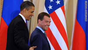 President Obama and Russian President Dmitry Medvedev signed a landmark nuclear arms treaty Thursday.