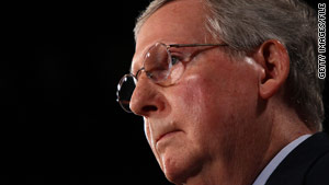 Senate Minority Leader Mitch McConnell charged that the current proposal would ease the way to bailouts.