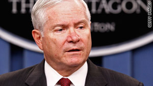 U.S. Defense Secretary Robert Gates recently wrote a classified memo about U.S. policy toward Iran.