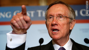 Senate Majority Leader Harry Reid has been criticized for holding a fundraiser with Goldman Sachs executives.