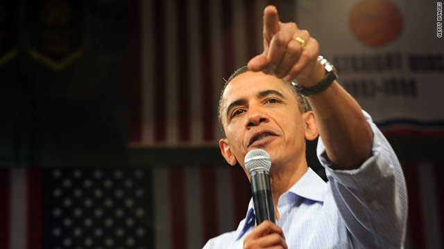 President Obama speaks during a town-hall meeting at Indian Hills Community College in Ottumwa, Iowa, on Tuesday.