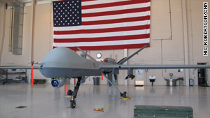 There have been 29 strikes this year from unmanned drones, such as this Reaper.
