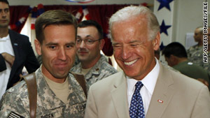 Beau Biden, pictured with his father last summer, is expected to make a full recovery.