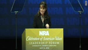 Sarah Palin, the former governor of Alaska, is a staunch supporter of the NRA.
