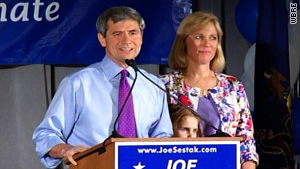 Rep. Joe Sestak defeated long-time D.C. figure Sen. Arlen Specter in Tuesday's Democratic Senate primary.