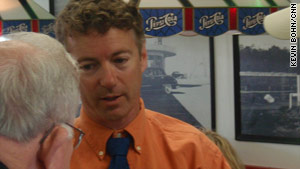 First-time politician Rand Paul is up against Trey Grayson, the Kentucky secretary of state, for a U.S. Senate seat.